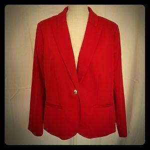 ⬇️SALE Women's Red Work Blazer Jacket Plus 16W